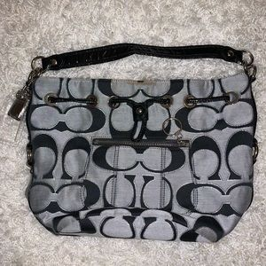 {COACH} Poppy Drawstring Logo Tote/Bucket Bag